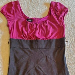 Dark Pink & Gray Dress